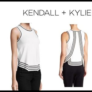 Kendall Kylie stripe  tank top